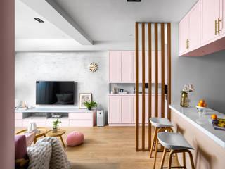 Phòng khách phong cách Bắc Âu bởi 築室室內設計 Bắc Âu