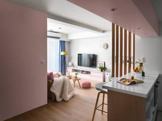 Scandinavian style dining room by 築室室內設計 Scandinavian