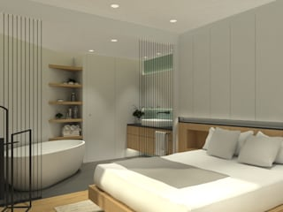 Interiorismo Obra Nueva Dormitorios de estilo mediterráneo de Alba Interiorisme Mediterráneo