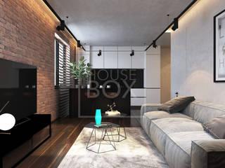 Лофт NEW YORK Гостиная в стиле лофт от HouseBox Лофт