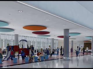 Refacción y ampliación de la zona de arribos | Aeroparque Jorge Newbery Aeropuertos de estilo moderno de REZ Arquitectura | Diseño | Construcción Moderno