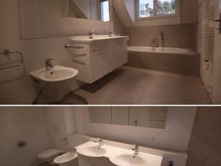 モダンスタイルの お風呂 の Ottagono+Rechsteiner Interior AG モダン