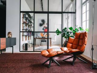 Loft Modern Living Room by Anastasia Schuler Modern
