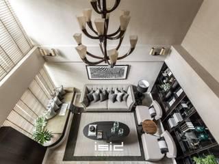 L宅 现代客厅設計點子、靈感 & 圖片 根據 居間設計 現代風