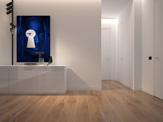 Ingresso, Corridoio & Scale in stile minimalista di Dmitriy Khanin Minimalista
