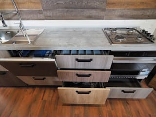 Industrial style kitchen by nuovimondi di Flli Unia snc Industrial