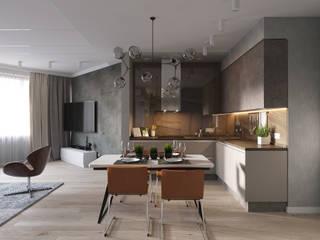 ЖК Лазурные Небеса Кухни в эклектичном стиле от Дизайн-студия Авериной Эклектичный