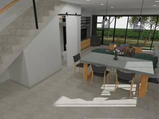 Duplex Development Design, 3D Render and VR Modern dining room by RooMoo Modern