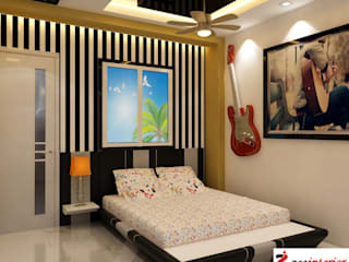 Best home decoration company in Patna Modern style bedroom by Zee interior Modern