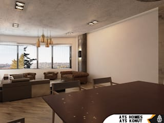 AYS Konut Tasarımı Kut İç Mimarlık Oturma OdasıAksesuarlar & Dekorasyon Ahşap Ahşap rengi
