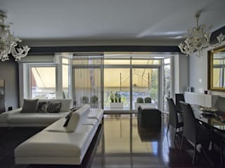 Altro_Studio Modern living room Wood Black