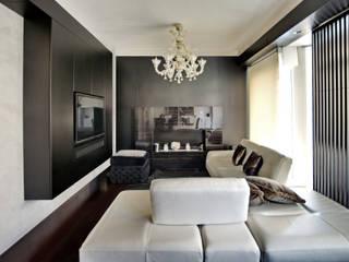 Altro_Studio Modern living room Wood White