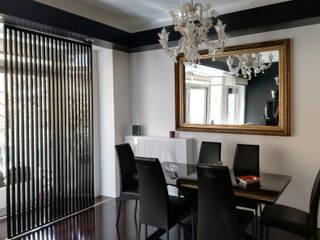 Altro_Studio Modern dining room Glass White