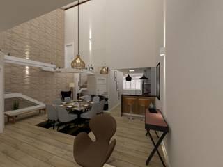 Reforma de Casa Geminada Danilo Rodrigues Arquitetura Salas de jantar modernas