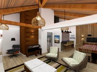 Churrasqueira Rústica Danilo Rodrigues Arquitetura Varandas, alpendres e terraços rústicos