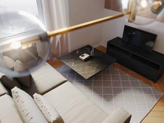 Open-Plan Living Room Modern living room by Zero Point Visuals Modern
