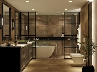 WALL INTERIOR DESIGN Rustic style bathroom