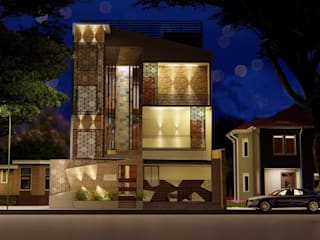 Coimbatore Modern houses by kayal construction Modern