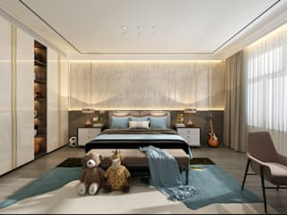 2BHK Project Juhu Modern style bedroom by Rebel Designs Modern