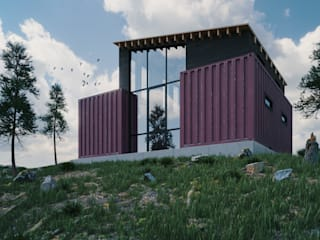 Container Home by Zero Point Visuals Industrial