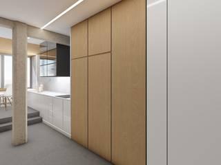 Barreres del Mundo Architects. Arquitectos e interioristas en Valencia. ห้องครัวขนาดเล็ก ไม้จริง Brown