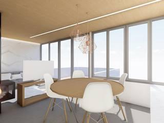 Barreres del Mundo Architects. Arquitectos e interioristas en Valencia. Modern dining room Concrete Grey