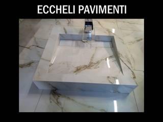 Eccheli Pavimenti e Rivestimenti Baños de estilo clásico Azulejos Blanco