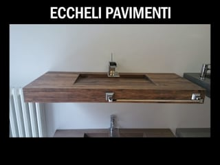 Eccheli Pavimenti e Rivestimenti Classic style bathroom Tiles Wood effect
