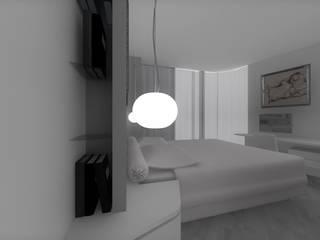 Render CAMERA da letto in ambiente moderno Camera da letto moderna di CLARE studio di architettura Moderno