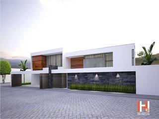 PORTÓN DE ACCESO Casas modernas de HHRG ARQUITECTOS Moderno