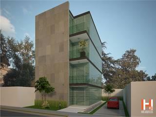 OFICINAS Casas modernas de HHRG ARQUITECTOS Moderno