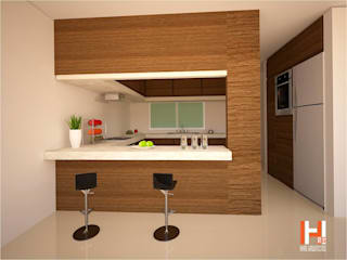 Modern kitchen by HHRG ARQUITECTOS Modern