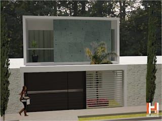 BALCÓN EN RECAMARA PRINCIPAL Casas modernas de HHRG ARQUITECTOS Moderno