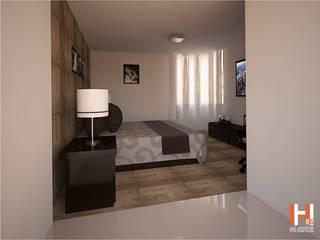 RECAMARA CON MADERA Dormitorios modernos de HHRG ARQUITECTOS Moderno