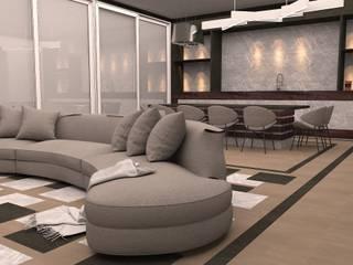 PELİKAN HİLL MALİKANE PROJESİ Modern Oturma Odası Beykent İç Mimarlık Modern