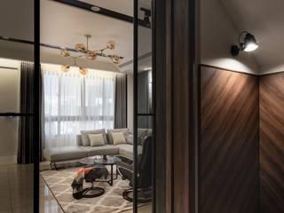 棒球五街天璽吳公館 現代風玄關、走廊與階梯 根據 大漢創研室內裝修設計有限公司 現代風