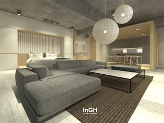 TJK : งานออกแบบภายในสไตล์ Japanese Loft InGH Architects co.,ltd (บจก.อินจีเอช สถาปนิก)