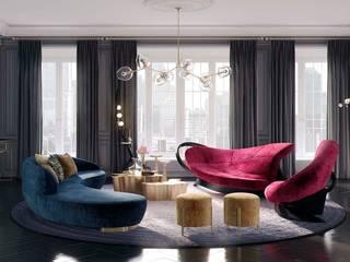 гостиная в стиле арт деко Гостиная в стиле модерн от actual design Модерн