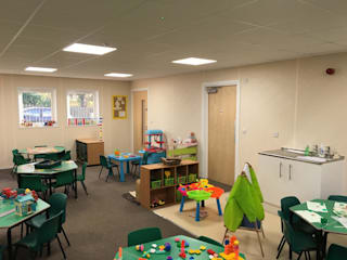 Woodlands Day Nursery Building Modern schools by Cotaplan Portable Buildings Modern