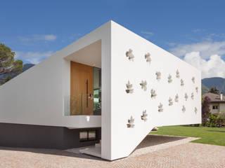 monovolume architecture + design Single family home Limestone White
