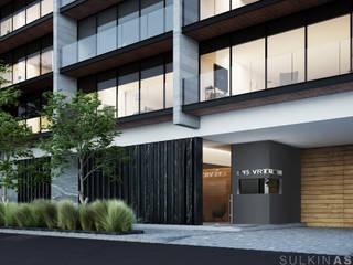 Balcon, Veranda & Terrasse modernes par Sulkin Askenazi Moderne