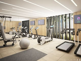 Salle de sport moderne par Sulkin Askenazi Moderne