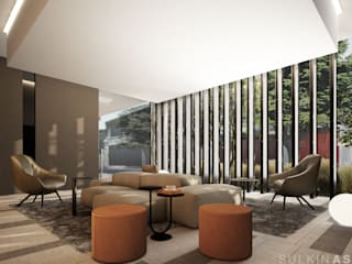 Salon moderne par Sulkin Askenazi Moderne