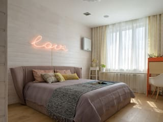 Scandinavian style bedroom by SAZONOVA group Scandinavian