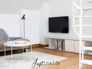 Mini loft, Bruxelles justinside Salon minimaliste