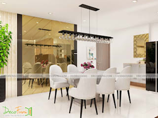 Thiết Kế thi công căn hộ chung cư hà dô - quận 10 - Nội Thất Funi Công ty TNHH Funi Dining roomChairs & benches