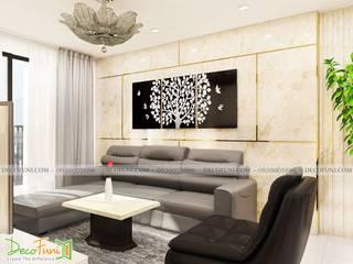 Thiết Kế thi công căn hộ chung cư hà dô - quận 10 - Nội Thất Funi Công ty TNHH Funi Living roomTV stands & cabinets