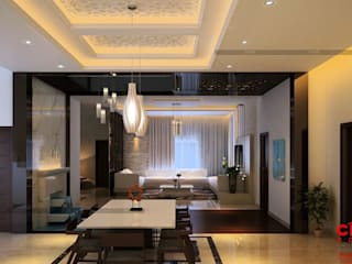 Asian style dining room by CreoHomes Pvt Ltd Asian