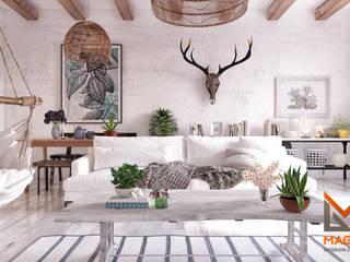 Livings de estilo escandinavo de Magic Mimarlık Escandinavo