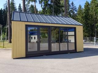 THULE Blockhaus GmbH - Ihr Fertigbausatz für ein Holzhaus: minimalist tarz , Minimalist